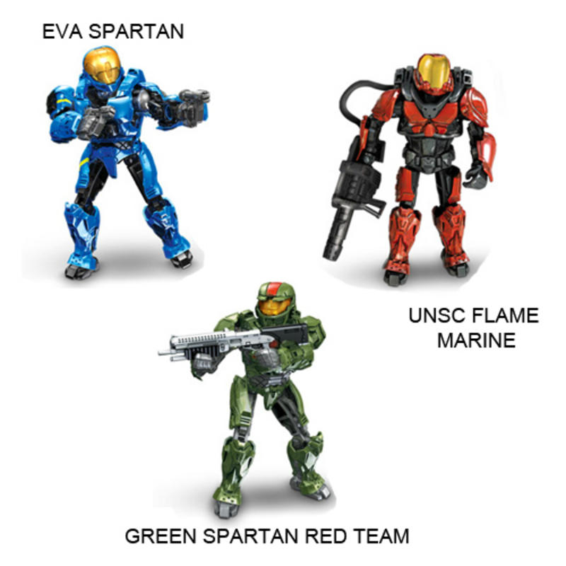 Amazon.com: Mega Bloks Halo Wars Buildable Fig Red Spartan: Toys ...