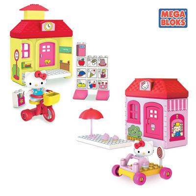 Hello Kitty Girls Mega Blocks Construction Playset With Hello Kitty Figurine 4+