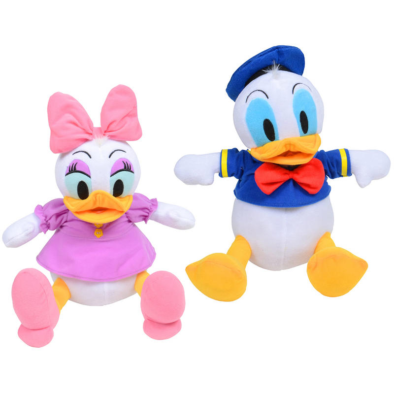 Disney 28cm 11 quot sitting pose plush soft toy donald duck or daisy duck