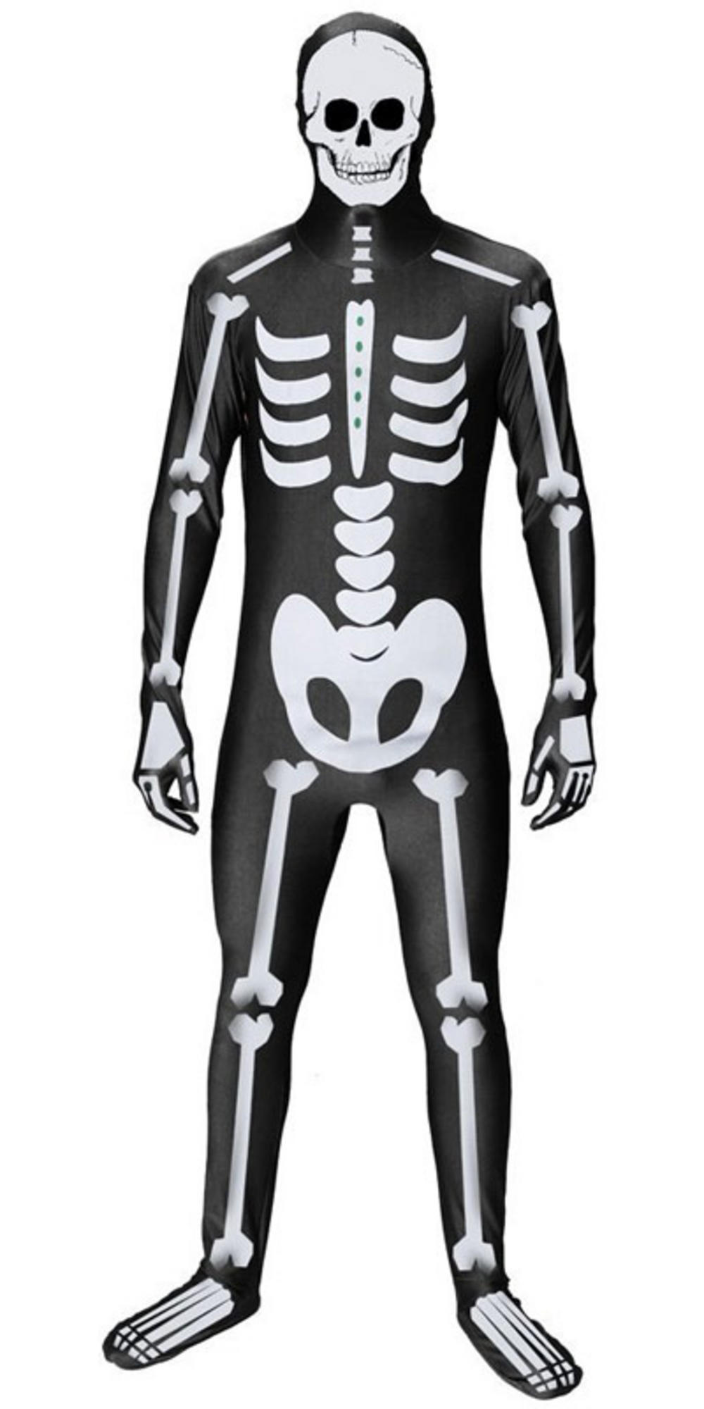 Adult Skeleton Body Suit Fancy Dress Party Costume