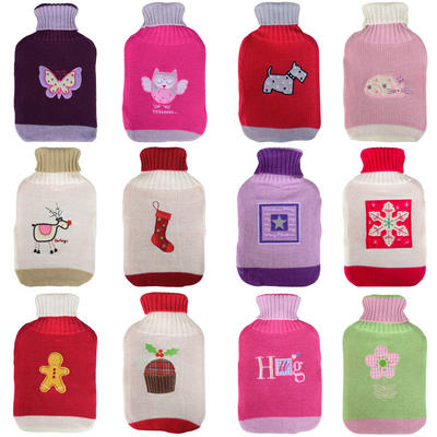 Thermotherapy Water Bottle & Two Colour Cover And Embroidered Motif