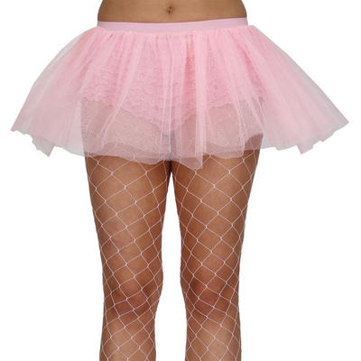 Baby Pink 3 Layer Tulle Tutu Petticoat Plus Size Skirt Fancy Dress Up Party Costume Accessory