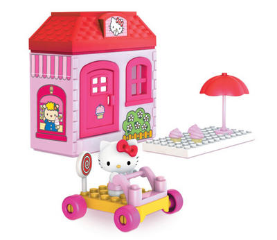 Hello Kitty Girls Mega Blocks Construction Candy Shop Playset With Hello Kitty Figurine 4+