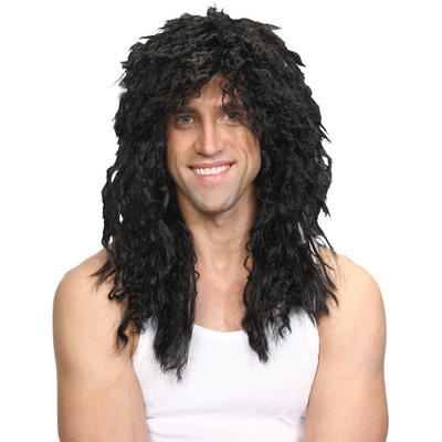 Wicked Costumes Rockstar  Slash Guitar God Guns N Roses Long Hair Wig - Black