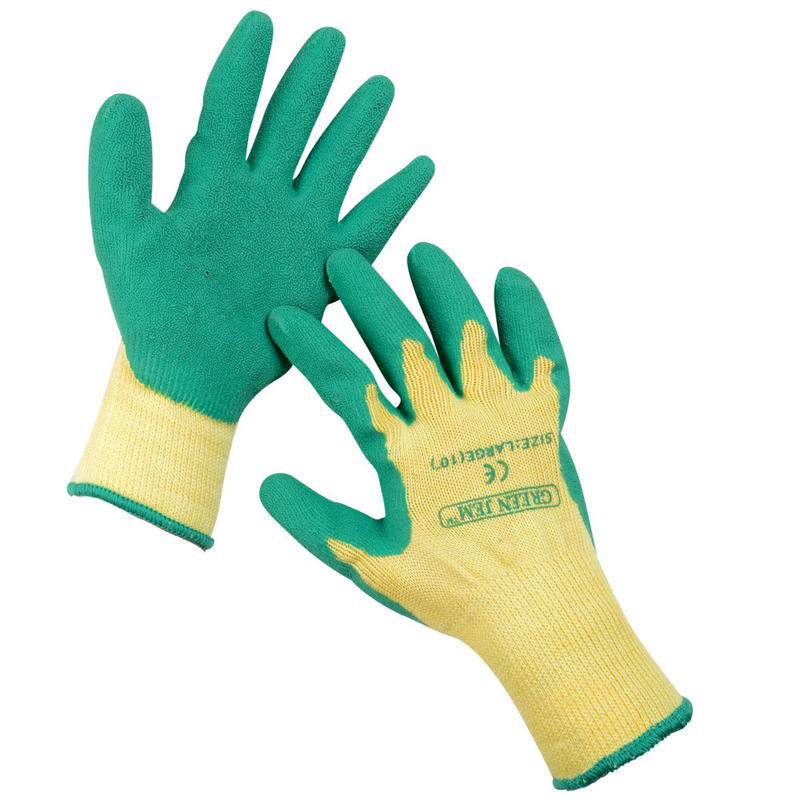 gloves green latex guard
