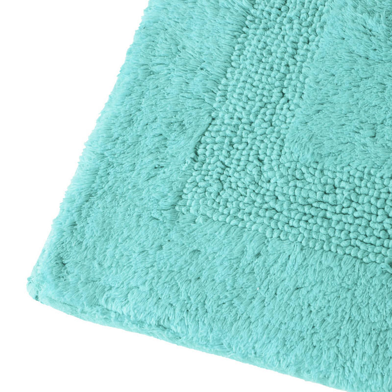 Aqua Bath Rug Home Decor