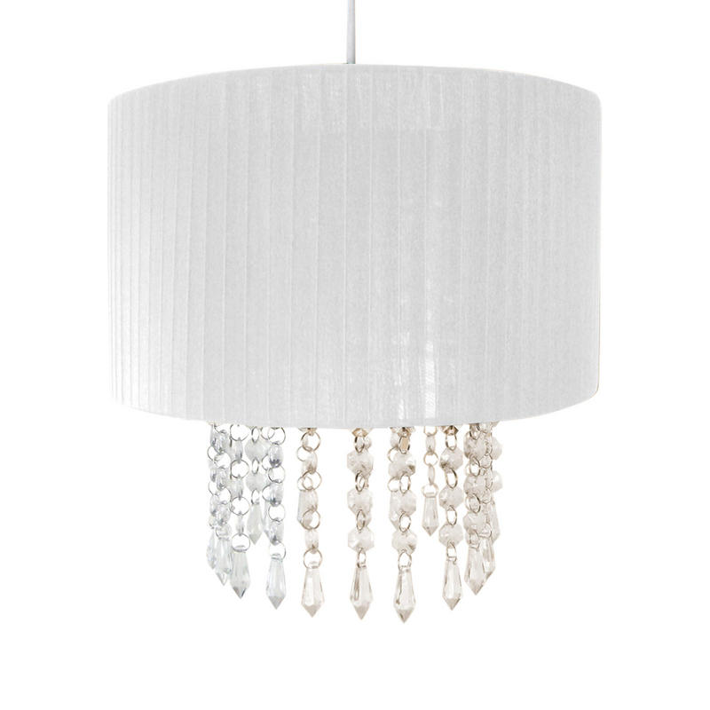 30cm Easy Fit Chandelier Acrylic Pendant Ceiling Light