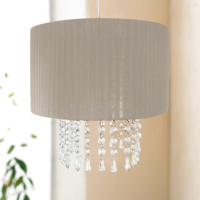 Easy Ceiling Lamp Shade: 30cm Easy Fit Chandelier Acrylic Pendant Ceiling Light