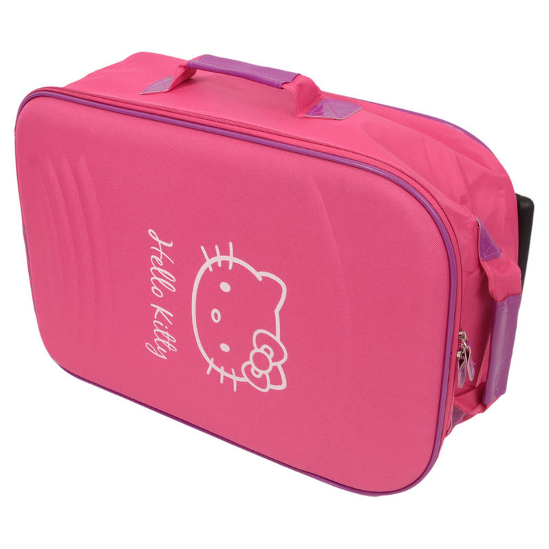 Hello Kitty Hot Pink Rolling Wheeled Luggage Suitcase Holiday Hand ...