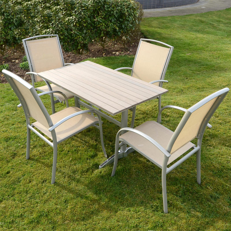 azuma naples 5pc table chairs garden outdoor dining furniture set