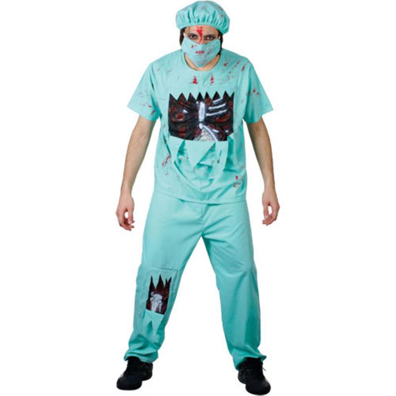 notaufnahme zombie doktor verkleidung m nner halloween horror karneval kost m m. Black Bedroom Furniture Sets. Home Design Ideas