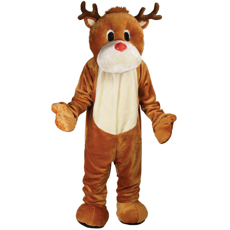 Reindeer giant mascot fancy dress xmas christmas festive costume new