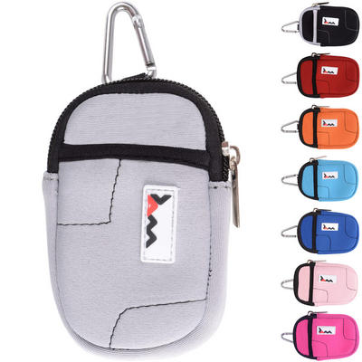 JAM Neoprene Padded Fabric Ultra Compact Digital Camera Case With Zip Fastening & Pocket Cover Pouch