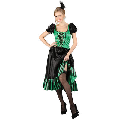 Womens sexy western saloon gal dancer showgirl fancy dress costume