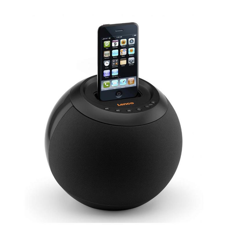 lenco speakerball docking station portable ipod speaker system black. Black Bedroom Furniture Sets. Home Design Ideas
