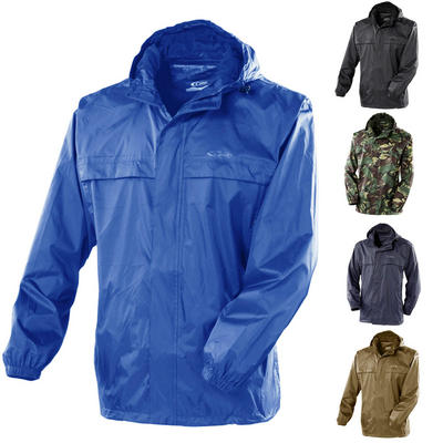 Gelert Men's Rainpod Jacket With Travel Storage Pod Bag Waterproof Hooded Zipped