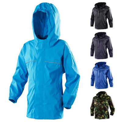 Gelert Boys Rainpod Jacket With Travel Storage Pod Bag Waterproof Hooded Zipped
