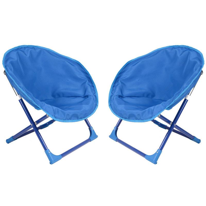 2 x childrens bucket moon chair garden camping indoor for Childrens outdoor furniture