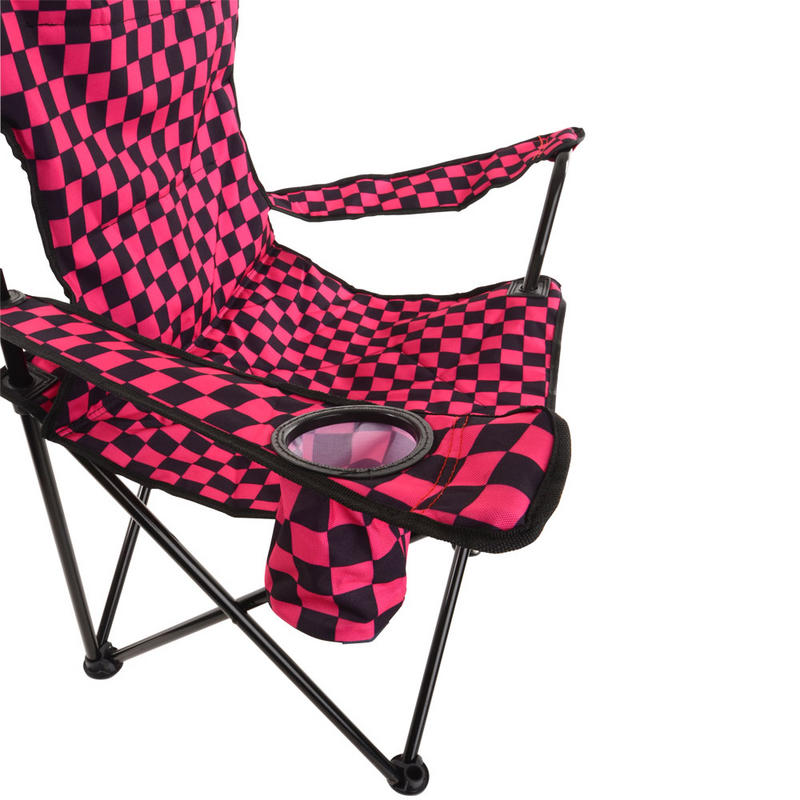 Azuma Deluxe Folding Padded Camping Summer Festival Armchair Chair Seat Bla
