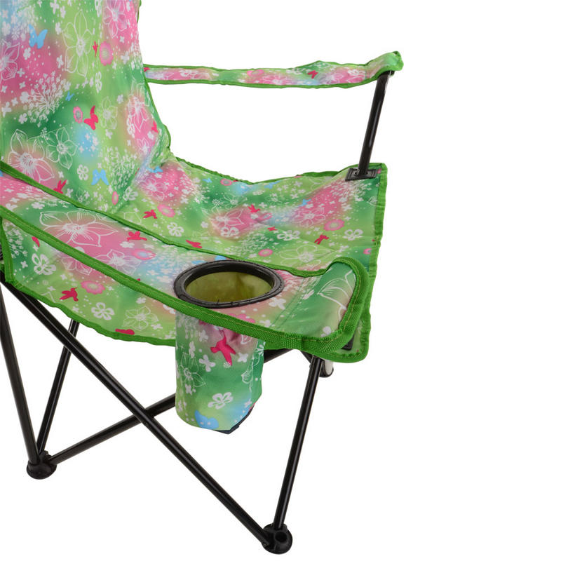 Azuma Deluxe Folding Padded Camping Summer Festival Armchair Chair Seat Floral