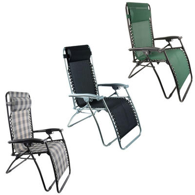 Zero Gravity Reclining Garden Relaxer Sun Lounge Chair Textaline