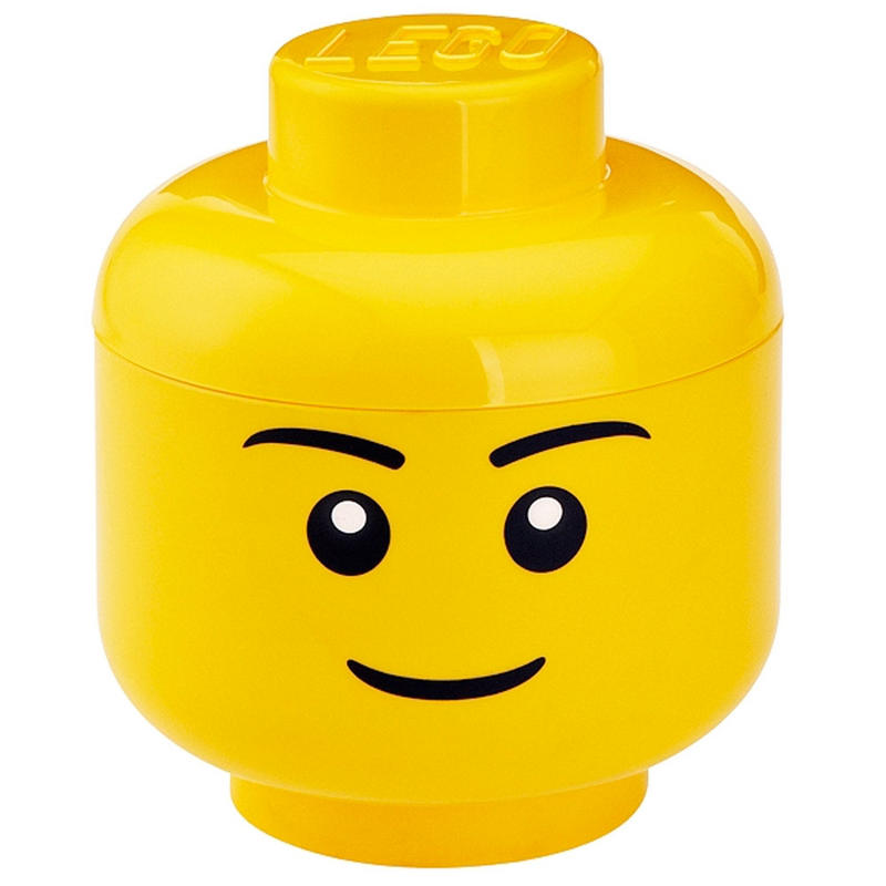 LEGO Fun Yellow Plastic Large Stackable Storage Head Toy Box Preview