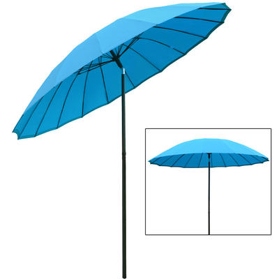 Azuma 2.5m Tilting Parasol Sun Shade Canopy Umbrella Garden Outdoor Patio - Blue