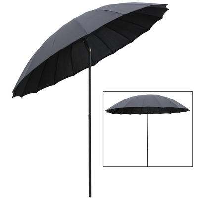 Azuma 2.5m Tilting Parasol Sun Shade Canopy Umbrella Garden Outdoor Patio - Black