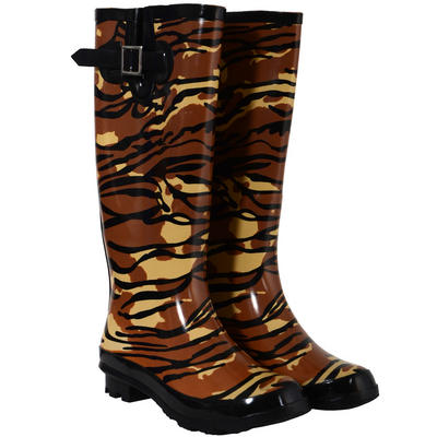Ladies Animal Print Funky Festival Wellies Wellington Boots Sizes 3-8