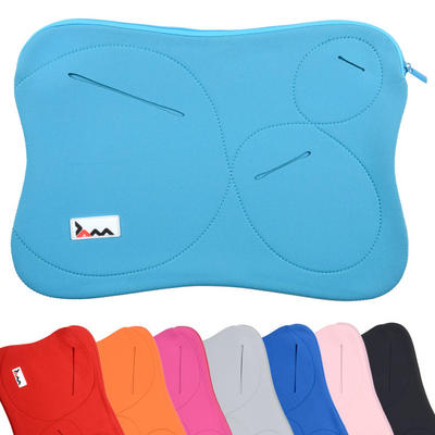 "JAM Neoprene Padded Fabric Laptop Sleeve 10"" Netbook Shaped Case With Zip & Pouches"