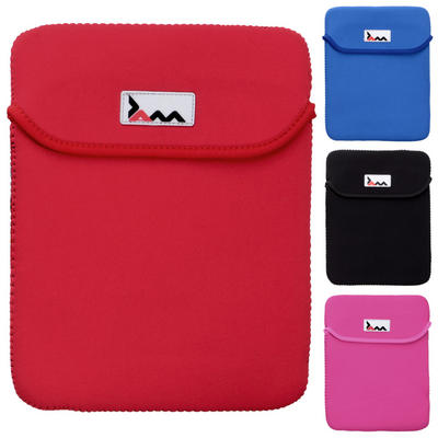JAM Neoprene Protective Padded Fabric Tablet Sleeve iPad Case With Fold In Flap
