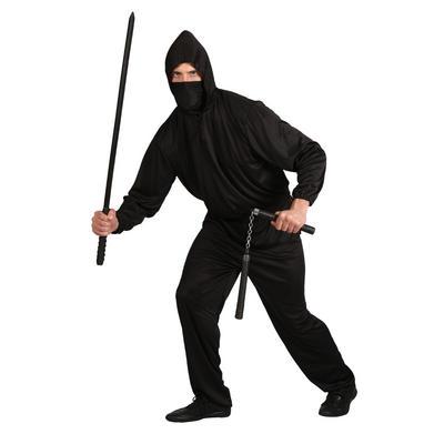Mens Fancy Dress Japanese Dark Ninja Halloween Party Outfit