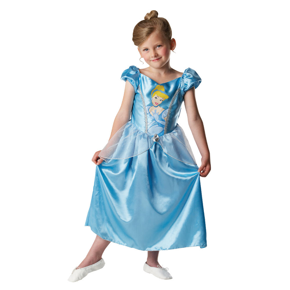 childs girls disney princess cinderella fancy dress up. Black Bedroom Furniture Sets. Home Design Ideas