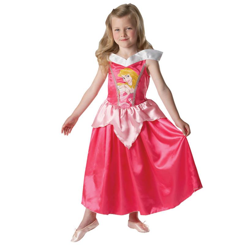 Girls Disney Princess Aurora Fancy Dress Up Party Halloween ...