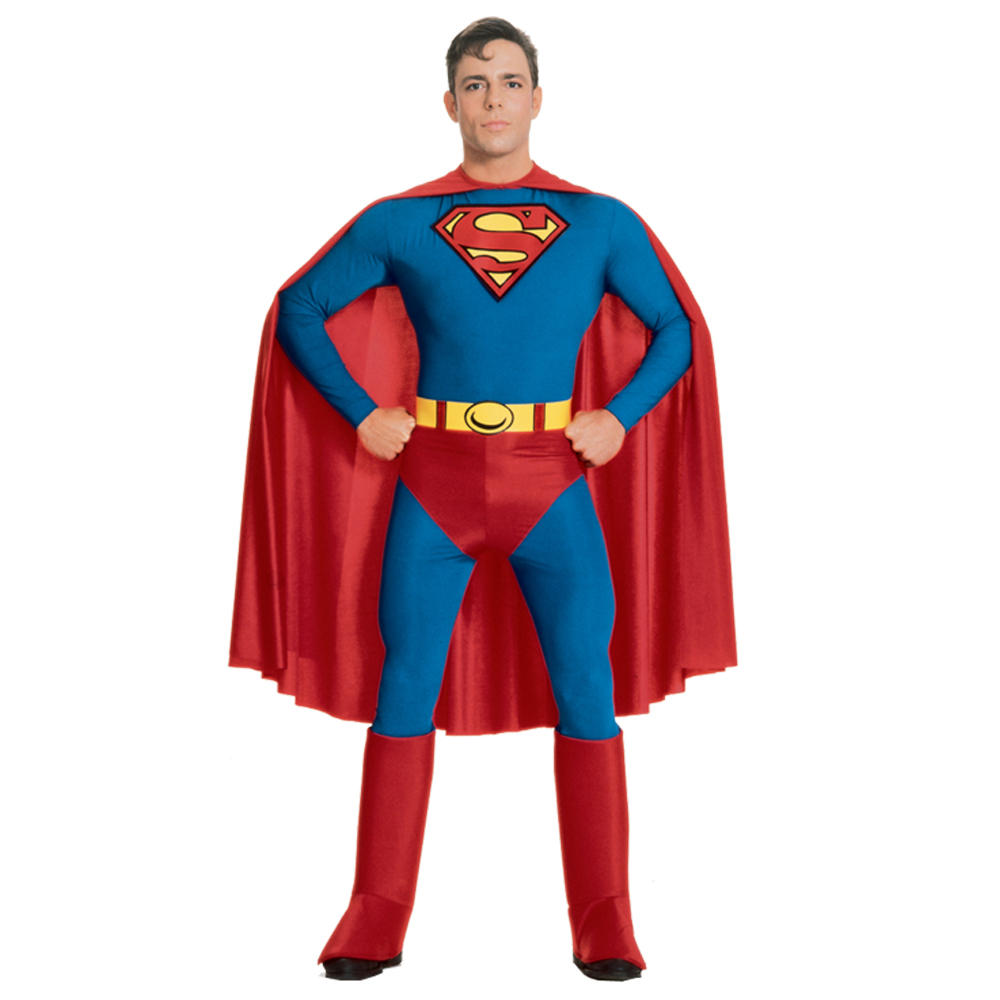 Mens Superman Super Hero Fancy Dress Up Party Halloween Festival ...