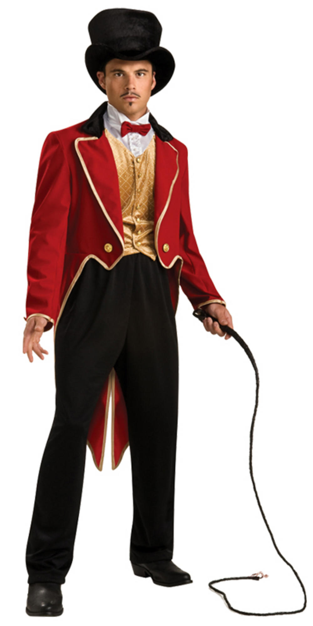 Mens Deluxe Circus Funfair Ringmaster Fancy Dress Up Party Halloween Costume