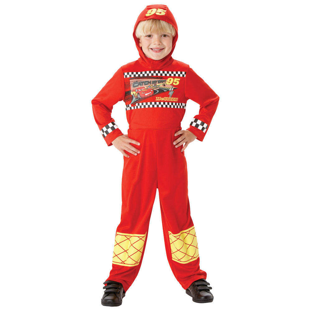 Boys Red Lightning Mcqueen Disney Pixar Cars Fancy Dress