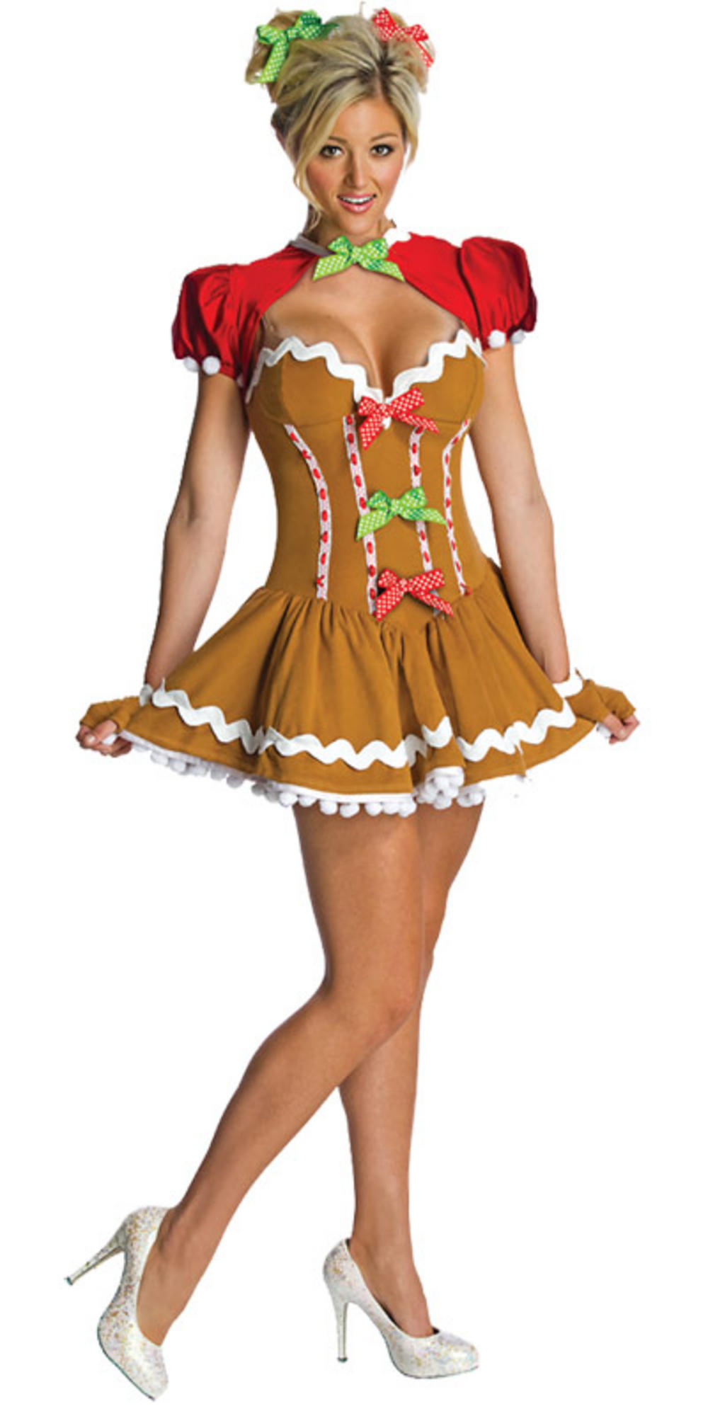 Cute gingerbread festive food ladies fancy dress halloween
