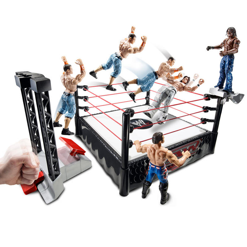 Wrestling Toys For Boys : Wwe flexforce launchin entrance ring with launcher raw