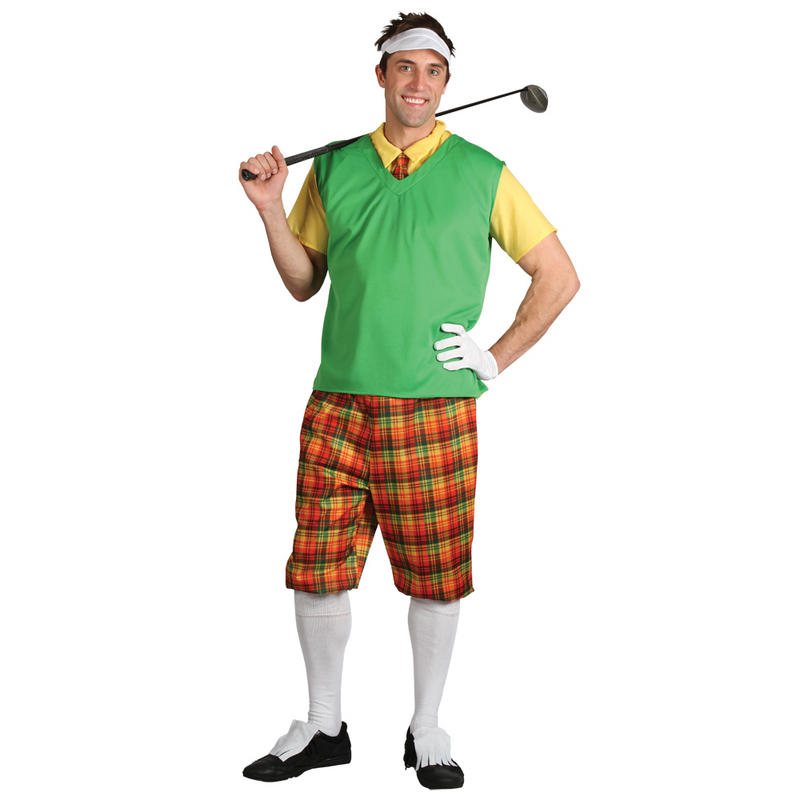 Mens Funny Golf Guy Pub Golfer Halloween Party Costume