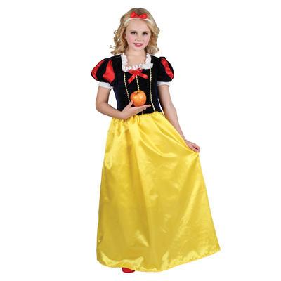 Girls Deluxe Snow Princess Fancy Dress Halloween Costume