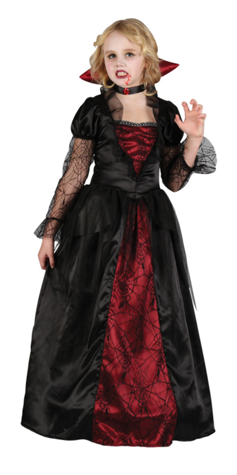 girls vampire princess halloween horror fancy dress party outfit. Black Bedroom Furniture Sets. Home Design Ideas