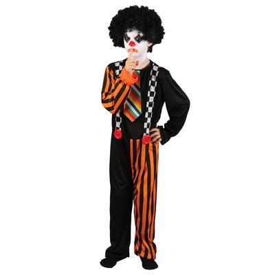 Boys Evil Sinister Clown Halloween Fancy Dress Costume