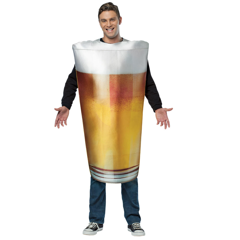 pint of beer funny fancy dress up alcohol halloween theme party costume. Black Bedroom Furniture Sets. Home Design Ideas