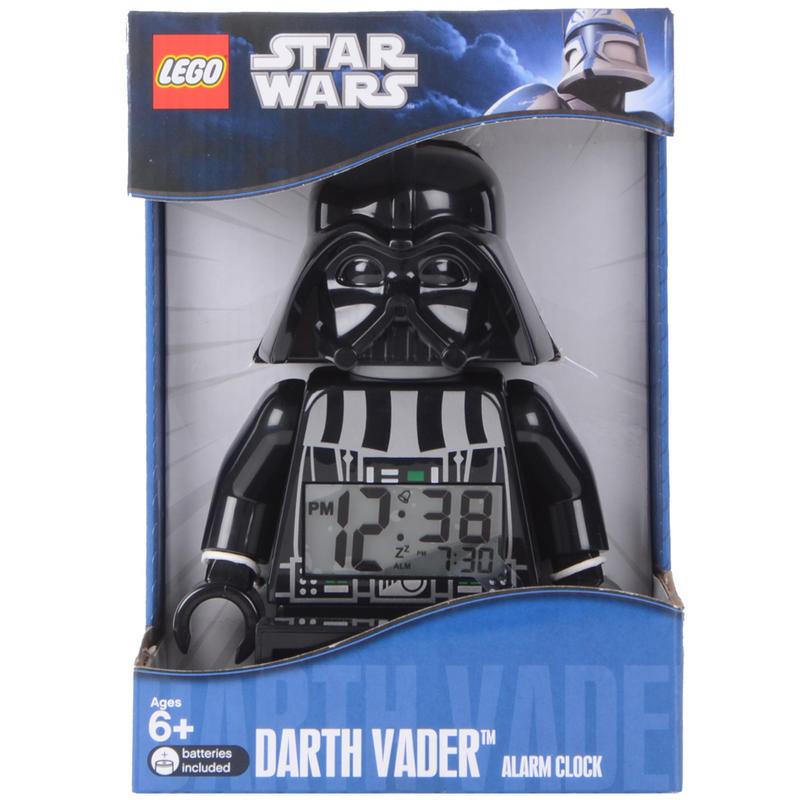 LEGO Minifigure Style Star Wars Darth Vader Digital Alarm Clock Back Light
