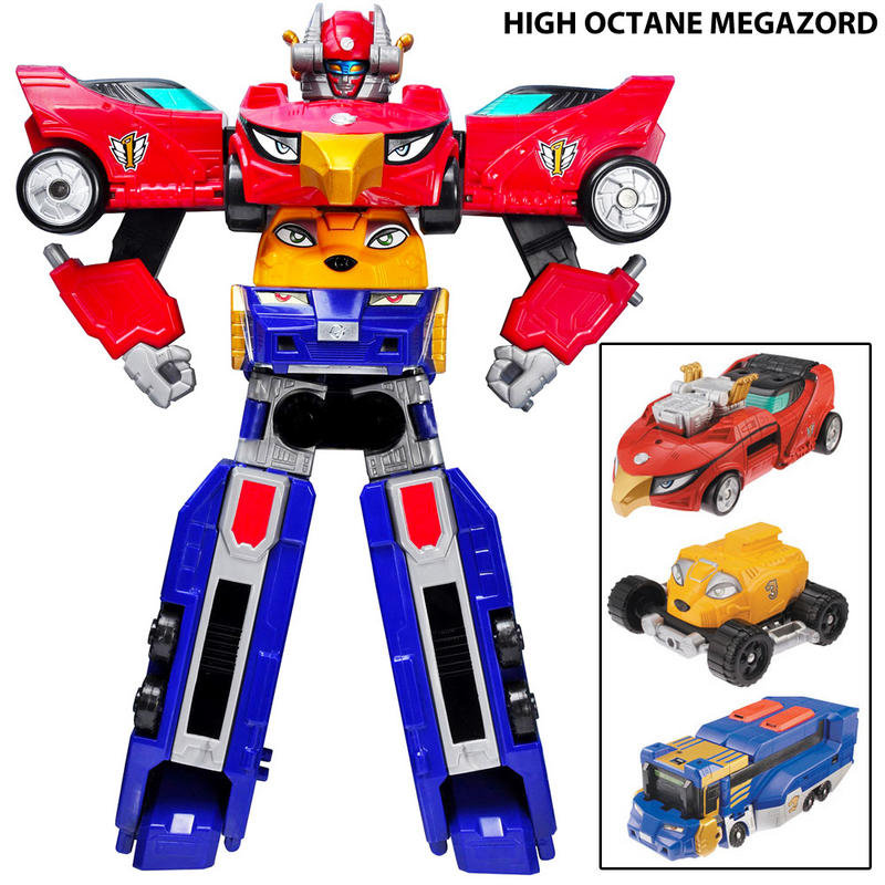 Mach Or High Octane Megazord Action Figure - 3 Zords ...