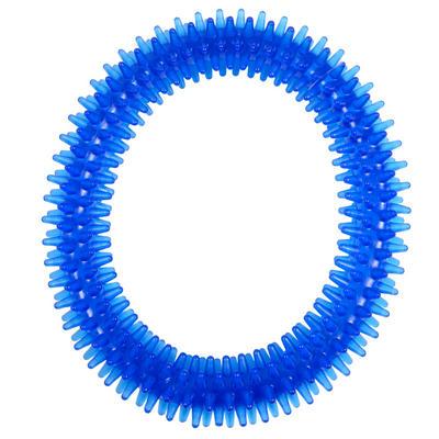 Blue Flexible Puppy Dog Pooch Pet Teeth Dental Chew Ring Fetch Tugger Play Toy