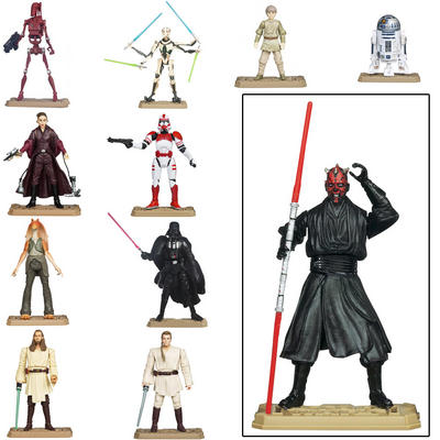 Star Wars Movie Heroes Figures With Base Weapon & Unique Battle Game Card Age 4+