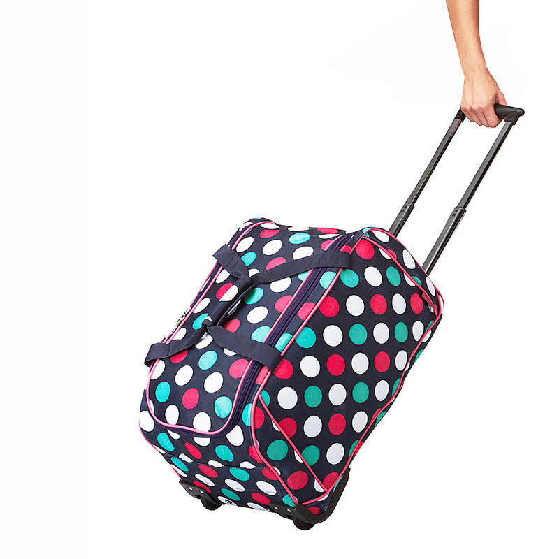 Stylish tote bags for school - Ladies Lightweight Wheeled Duffle Bag Trolley With Carry Handles In