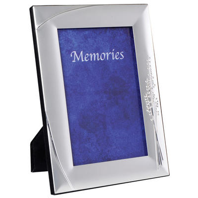 SLIGHT SECONDS - Two Tone Silver Plated Photo Picture Frame - Flower Bouquet
